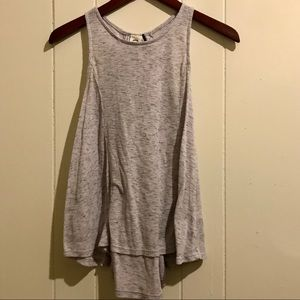 anthropologie lace up muscle tank | size xs